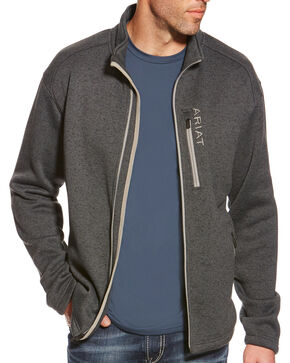 Ariat Men's Caldwell Full Zip Sweater, Grey, hi-res