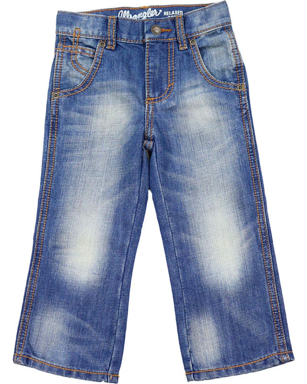 Wrangler Boys' Retro Relaxed Boot Cut Denim Jeans, Blue, hi-res