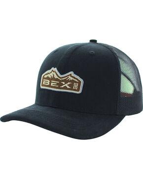 BEX Men's Bryce Cotton Canvas Mesh Cap, Black, hi-res