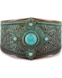 Shyanne® Women's Turquoise Embellished Cuff, , hi-res