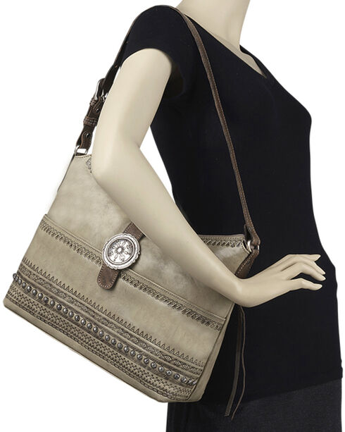 American West Women's Trading Post Conceal Carry Shoulder Bag, Sand, hi-res