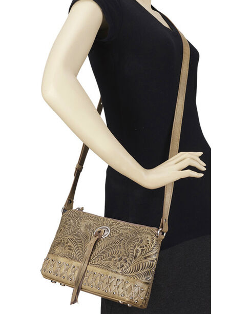 Bandana by American West Women's Dove Canyon Crossbody Bag , Sand, hi-res
