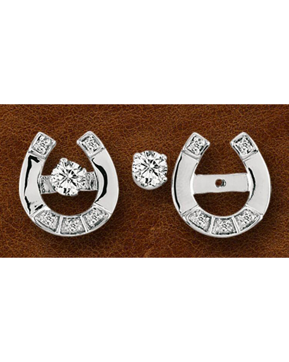 Kelly Herd Sterling Silver Horseshoe Earring Jackets With Studs, Silver, hi-res