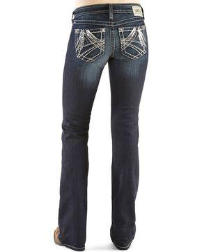 Ariat Women's Turquoise Mid Rise Boots Cut Jeans, Denim, hi-res