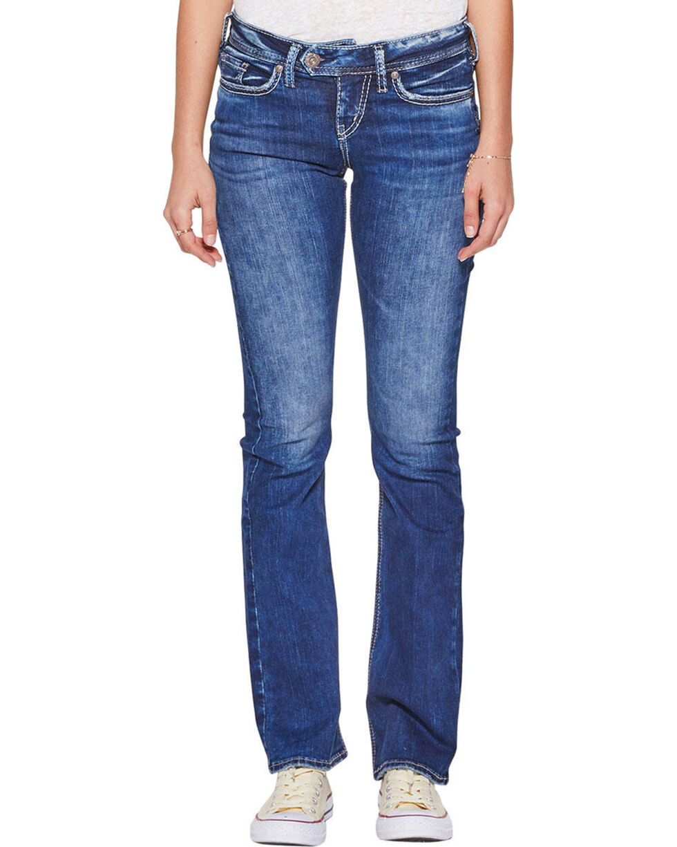 Silver Jeans Women's Tuesday Boot Cut Jeans , Indigo, hi-res