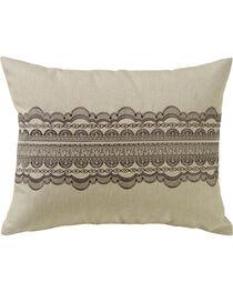HiEnd Accent Burlap and Scallop Lace Design Pillow , , hi-res