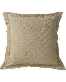 HiEnd Accents Diamond Pattern Quilted Khaki Euro Sham, , hi-res
