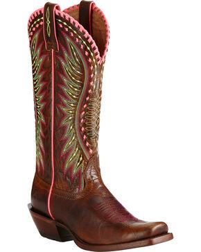 Ariat Women's Derby Western Boots, Dark Brown, hi-res