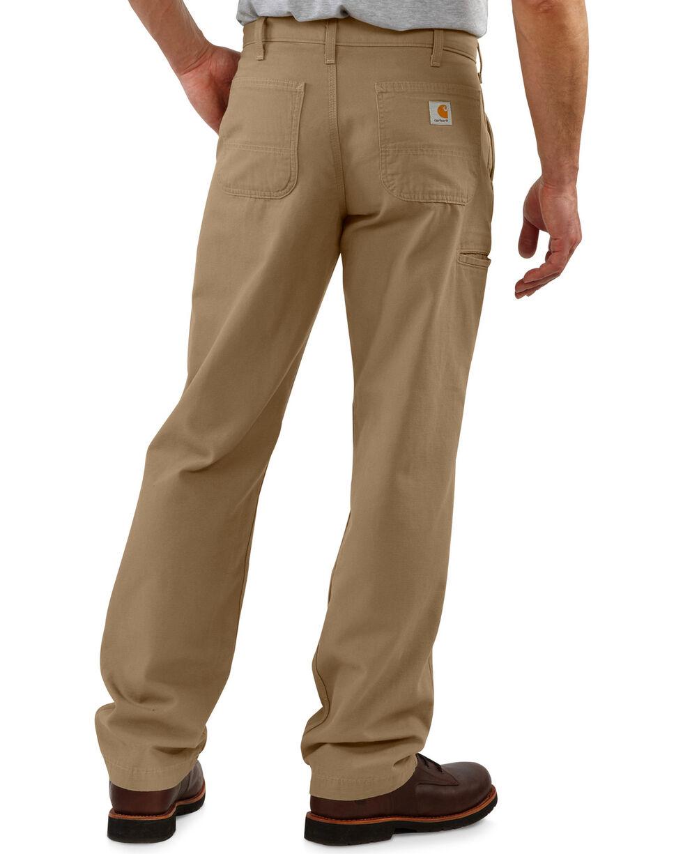 Carhartt Men's Canvas Khaki Relaxed Fit Pants, Khaki, hi-res