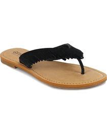 Shyanne® Women's Suede Fringe Sandals, , hi-res