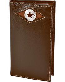 Nocona Leather Inlay Star Concho Checkbook Wallet, , hi-res
