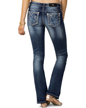 Miss Me Women's Indigo Major Fleur Mid-Rise Jeans - Boot Cut, Indigo, hi-res