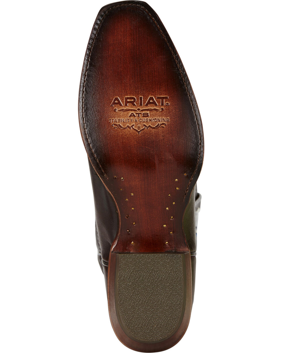 Ariat Men's High Roller Western Boots, Chocolate, hi-res