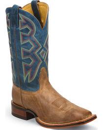 Nocona Temple Tan Let's Rodeo Western Boots - Square Toe , , hi-res
