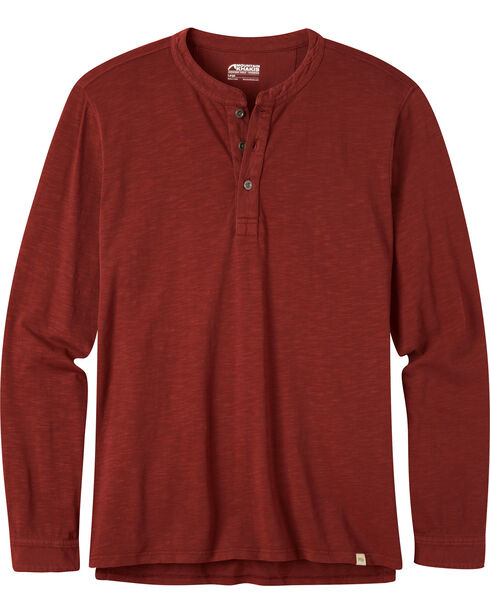 Mountain Khakis Men's Mixter Henley Shirt, Burgundy, hi-res