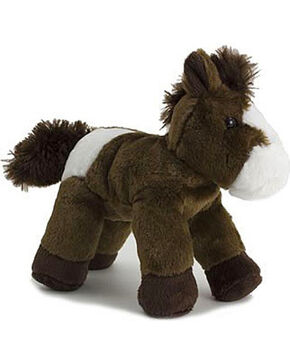 Aurora Kid's Paint Mini Flopsie Stuffed Horse, Dark Brown, hi-res
