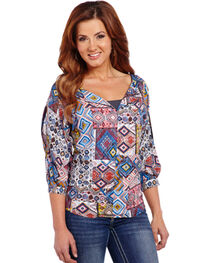 Cowgirl Up Southwestern Top, , hi-res