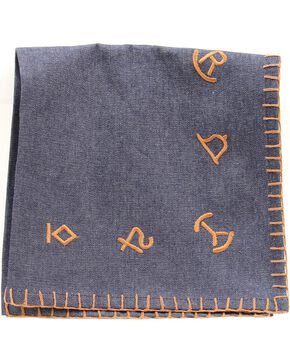 Western Moments Branded Denim Napkins - Set of 4, Multi, hi-res