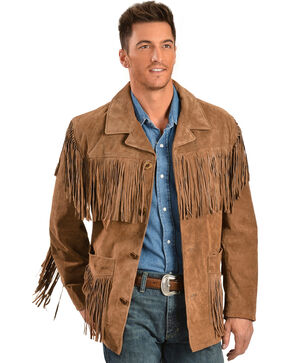 Scully Suede Fringe Jacket, Brown, hi-res
