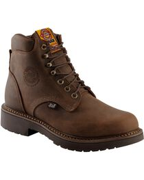 "Justin Men's J-Max Rugged Gaucho 6"" Lace-Up Work Boots, , hi-res"