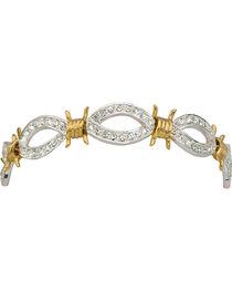 Montana Silversmiths XOXO Crystal Barbed Wire Bracelet, , hi-res