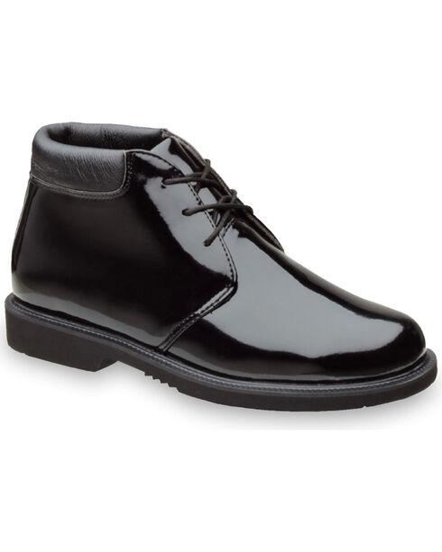 Thorogood Men's Poromeric Academy High Gloss Chukkas, Black, hi-res