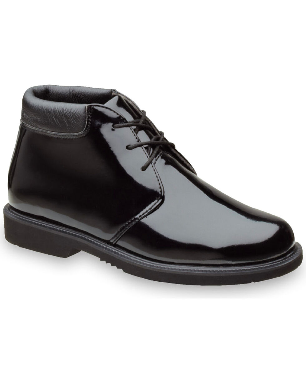Thorogood Men's Poromeric Academy High Gloss Chukka Work Boots , Black, hi-res