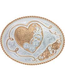 Montana Silversmiths A Heart of Rose Gold Westrn Belt Buckle, , hi-res