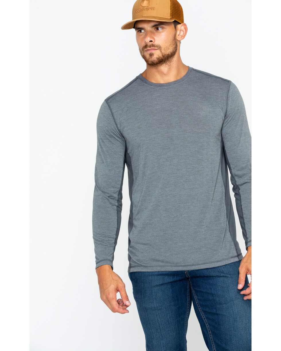 Carhartt Men's Shadow Force Extremes Long Sleeve T-Shirt, Grey, hi-res