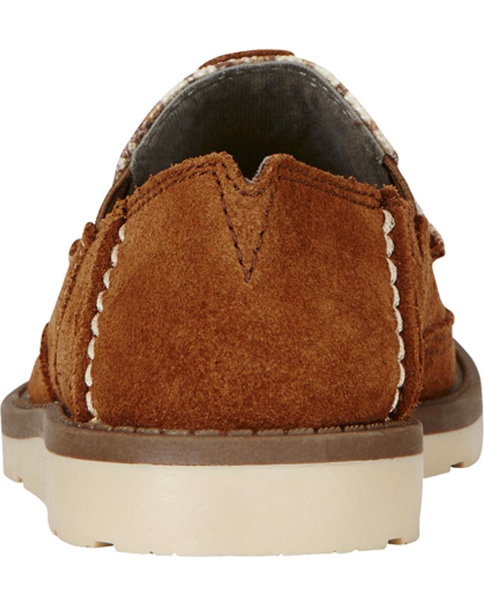Ariat Kid's Brown Cruiser Shoes - Moc Toe, Light Brown, hi-res