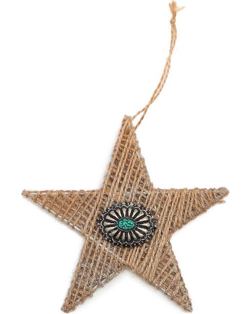 BB Ranch Burlap Twine Star Ornament, Natural, hi-res