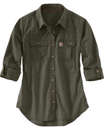 Carhartt Women's Force Ridgefield Shirt , , hi-res