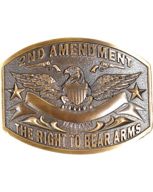 Cody James® 2nd Amendment  Belt Buckle, Silver, hi-res