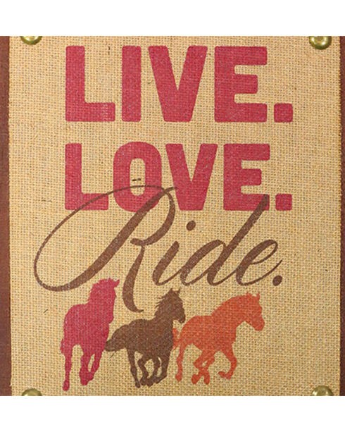 BB Ranch Live Love Ride Wall Deocr, Multi, hi-res