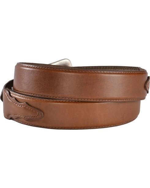 Nocona Men's Overlay Leather Western Belt, Brown, hi-res