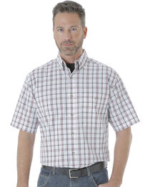 Wrangler Men's Rugged Wear Blue Ridge Plaid Shirt , , hi-res