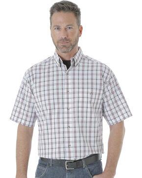 Wrangler Men's Rugged Wear Blue Ridge Plaid Shirt , White, hi-res