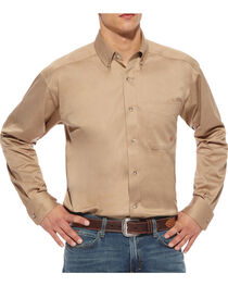 Ariat Khaki Twill Cowboy Shirt - Big and Tall, , hi-res