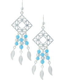 Montana Silversmiths Women's Geometric Dreaming Earrings , , hi-res