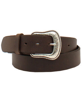 Nocona Women's Basic Belt, Dark Brown, hi-res