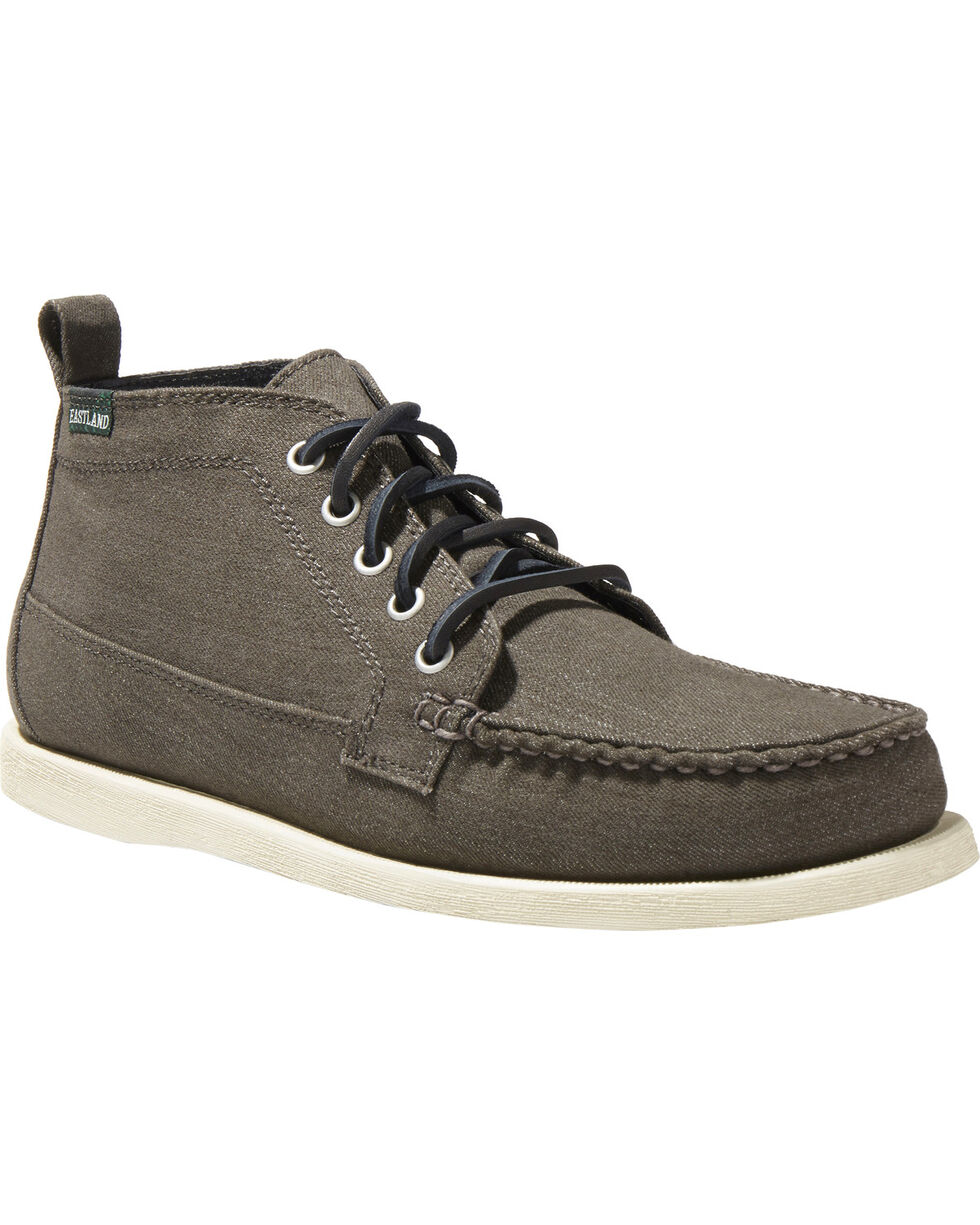 Eastland Men's Seneca Canvas Camp Moc Chukka Boots - Moc Toe , Black, hi-res