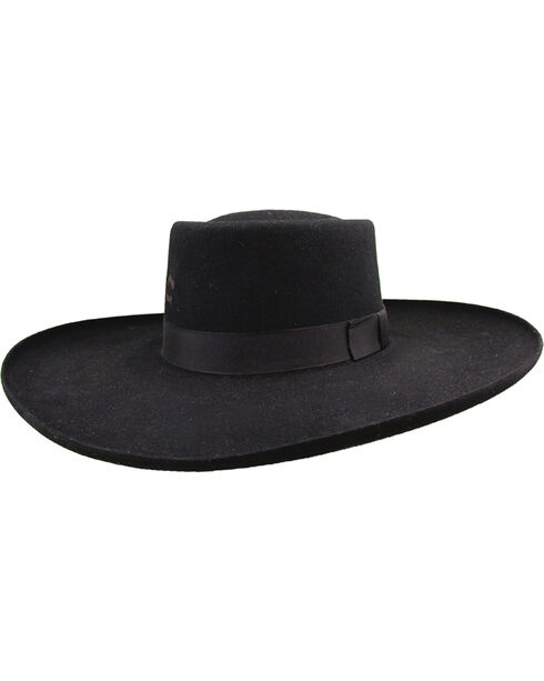 Charlie 1 Horse Tattoos and Scars Wool Felt Hat, Black, hi-res