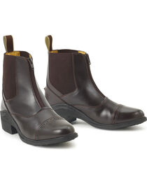 Ovation Synergy Zip Front Women's Brown Paddock Boots, , hi-res