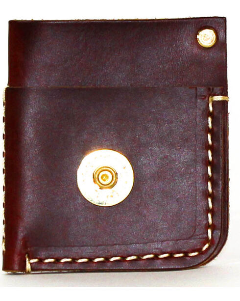 SouthLife Supply Men's Mason Brick Front Pocket Card Holder, Mahogany, hi-res
