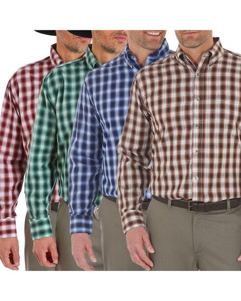 Wrangler Men's Assorted Riata Plaid Long Sleeve Shirt, Multi, hi-res