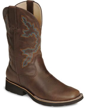 Roper Youth's Riderlite II Western Boots, Brown, hi-res