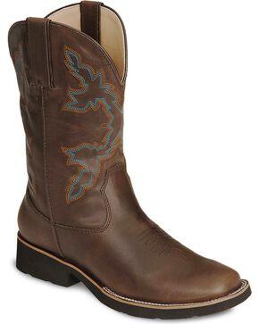 Roper Youth's Riderlite II Western Boots, Brown, hi-res