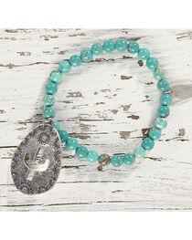 Shyanne Women's Cactus Charm Stretch Bracelet, Silver, hi-res