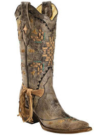 Corral Women's Laser Woven Western Boots, , hi-res