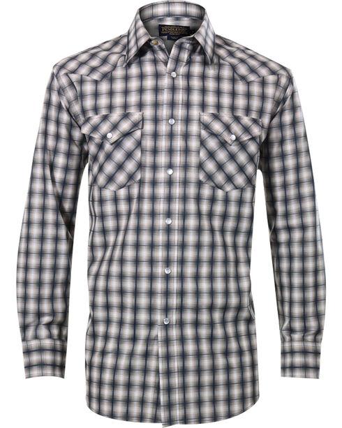 Pendleton Men's Square Patterned Long Sleeve Shirt, Navy, hi-res
